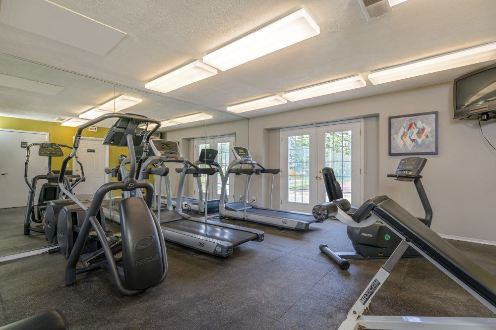 Fitness center at Diamond Forest Apartments