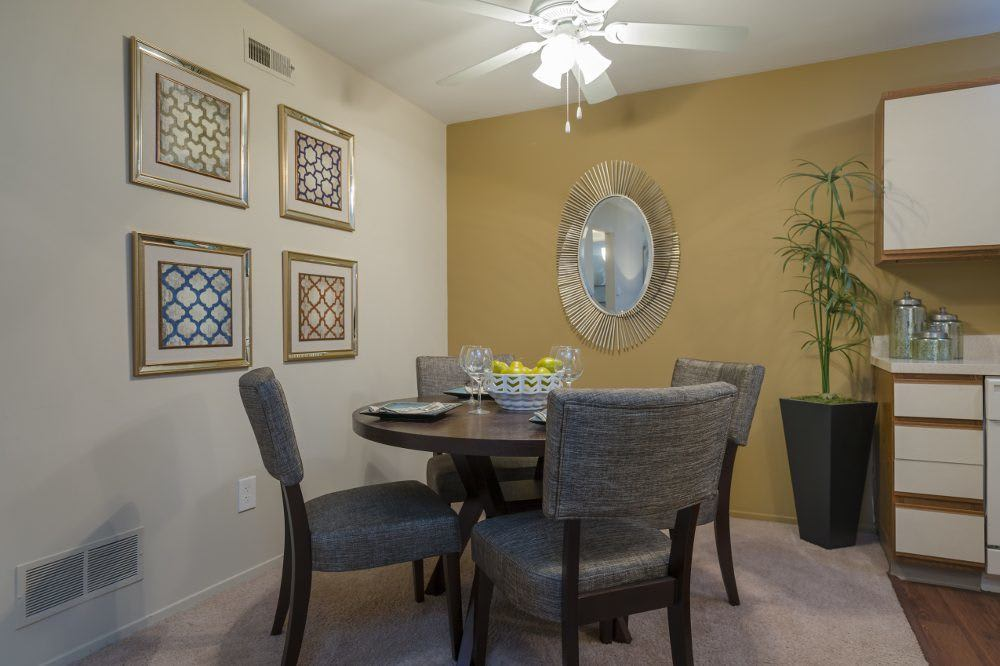Dining area at Diamond Forest Apartments