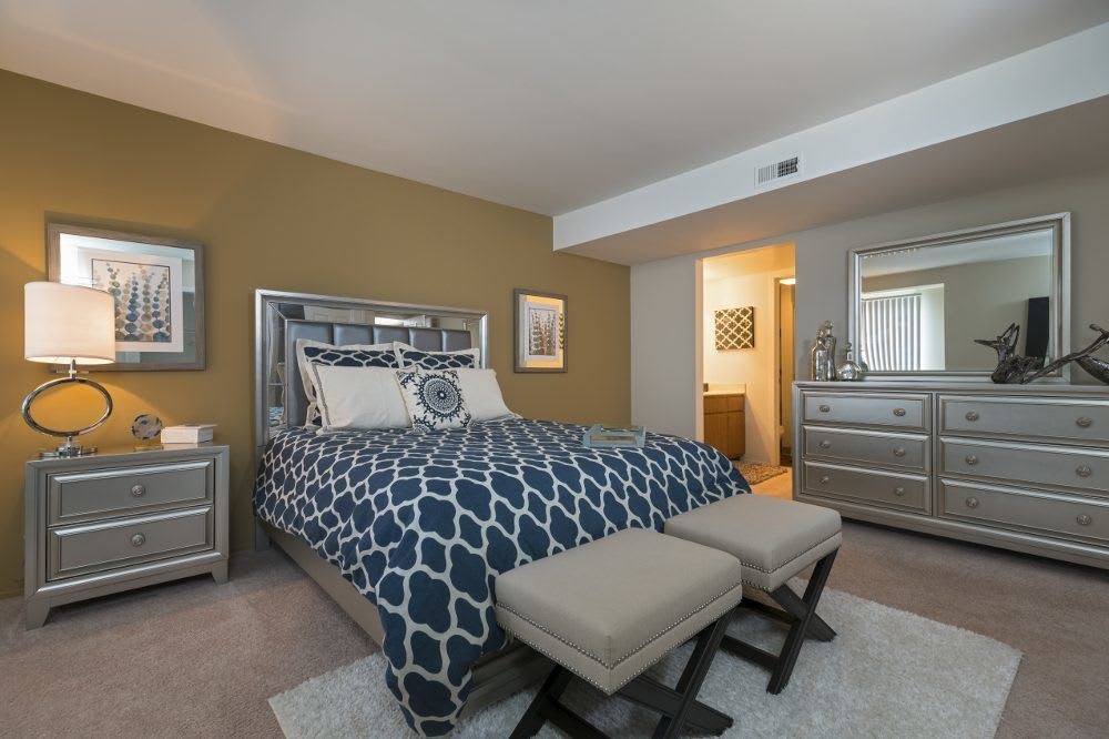 Well decorated bedroom at Diamond Forest Apartments