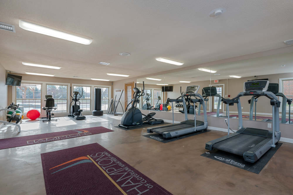 Fitness center 2 at Hamptons of Cloverlane Apartments in Michigan