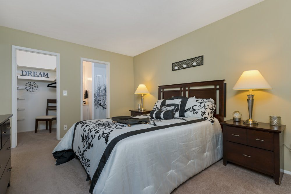 Bedroom at Independence Green Apartments in Farmington Hills, MI