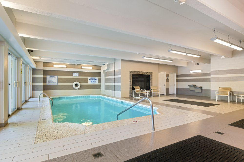Indoor pool at Independence Green Apartments in Michigan