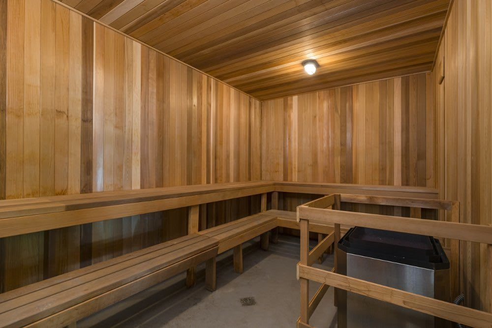 Sauna at Independence Green Apartments in Michigan