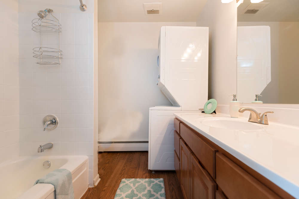 Bathroom at Independence Green Apartments in Farmington Hills, MI