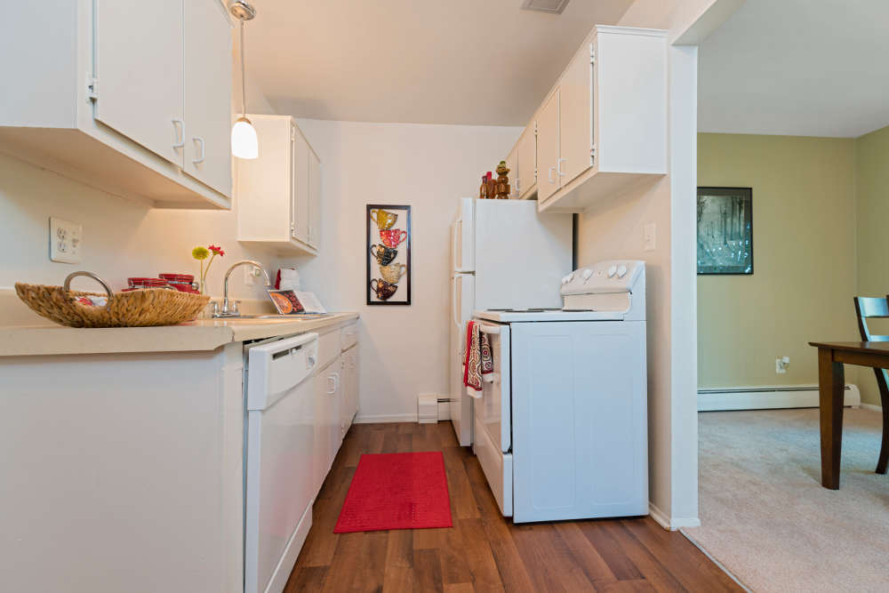 Kitchen with great amenities at Independence Green Apartments in Farmington Hills, MI