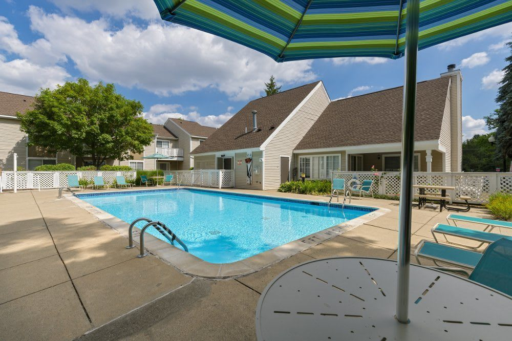 Pool at Monticello Apartments in Southfield, MI