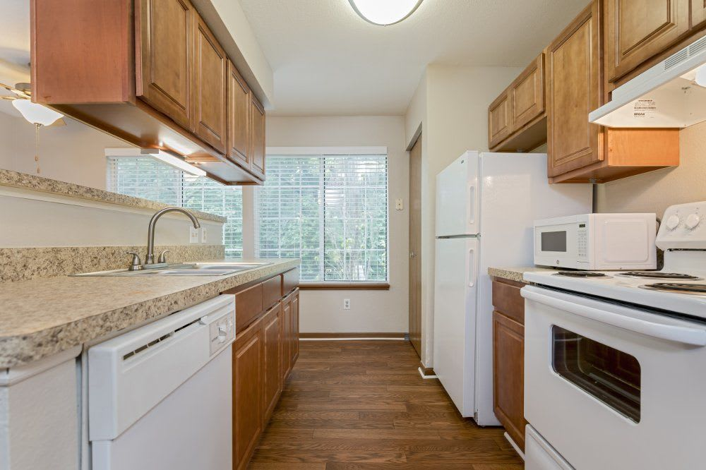 Kitchen at Monticello Apartments in Southfield, MI