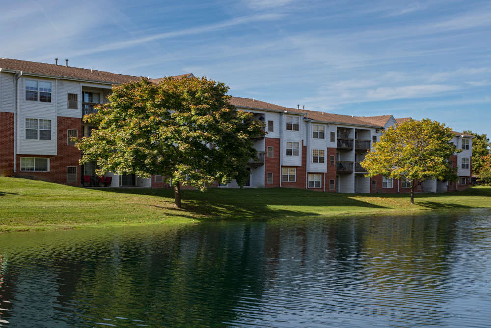 Lake and Apartments  at Ponds at Georgetown Apartments in Ann Arbor, MI