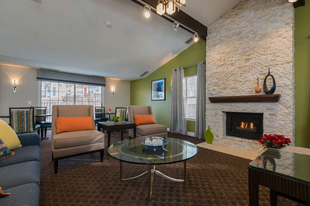Social Living Room  at Ponds at Georgetown Apartments in Ann Arbor, MI