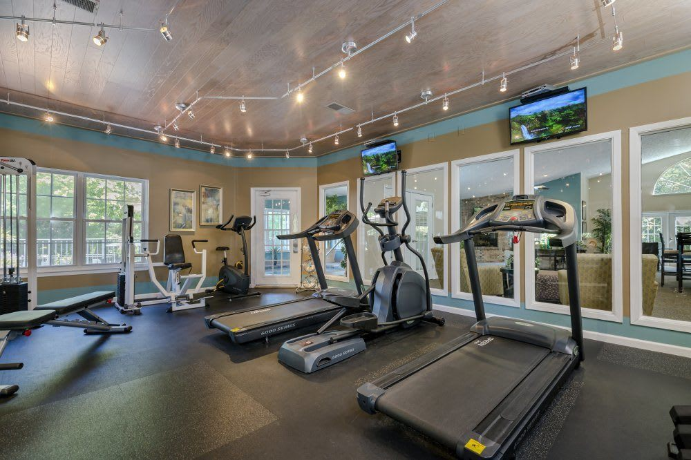 Fitness center at Sturbridge Square Apartments