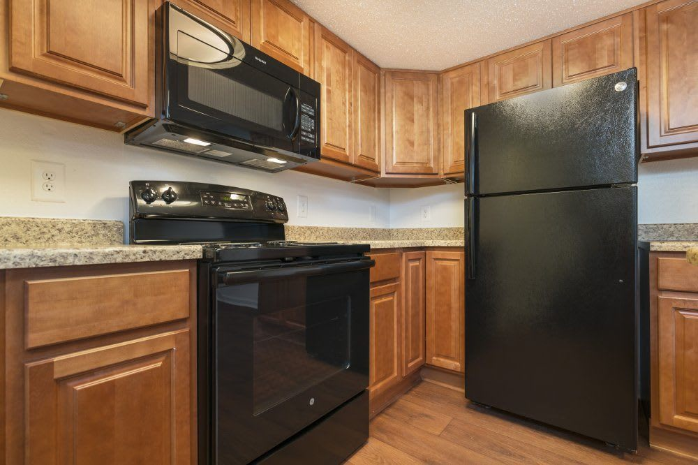 Kitchen at The Pines of Cloverlane Apartments