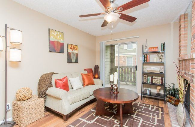 Living room at Westchase Apartments