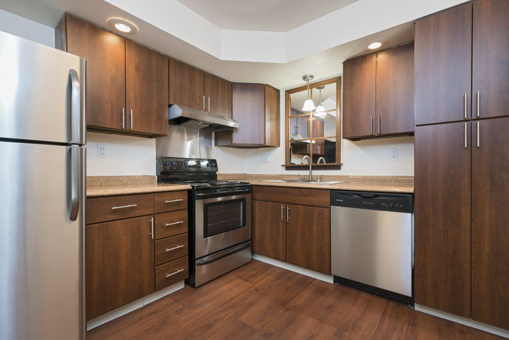 Kitchen at Plumtree Apartments in Michigan