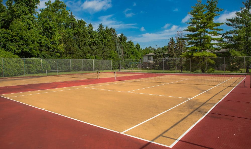 Multiple tennis courts at Camelot East Apartments in Fairfield, OH