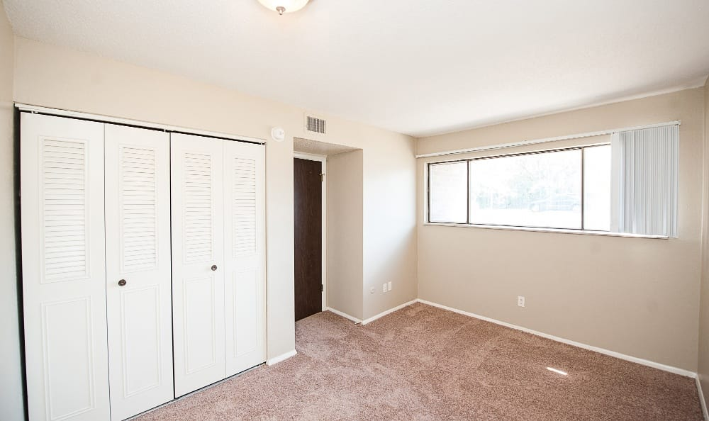 All bedrooms feature closets, stop by the get a better idea of what your new home could look like