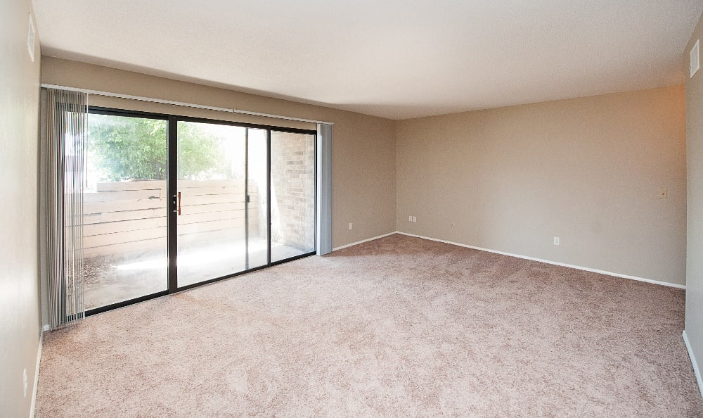 We've taken pictures of our apartments with and without furniture to help you make your decision.