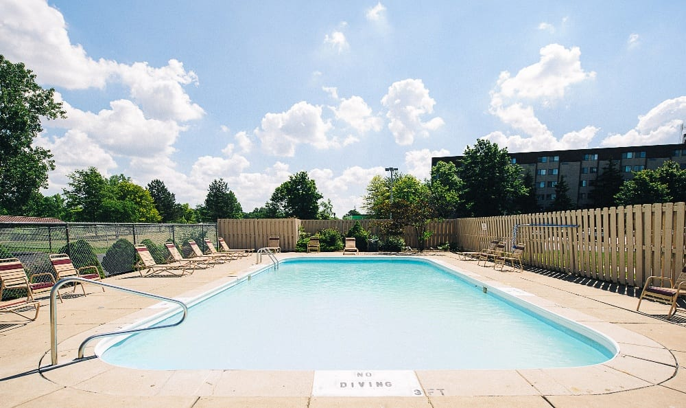 Relax by your new pool at the apartments for rent in Toledo, OH