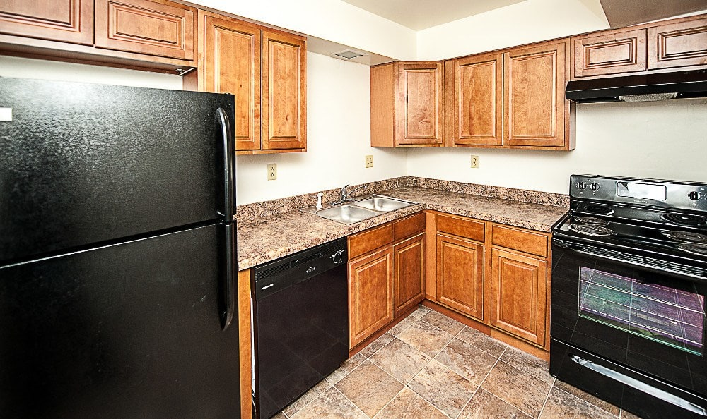 Some apartments feature a pantry at The Woodlands Apartments in Toledo, OH