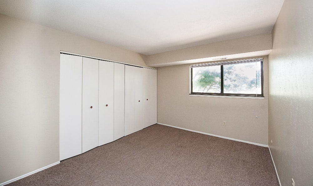 The view of a second bedroom of an apartment at The Woodlands Apartments in Toledo, OH