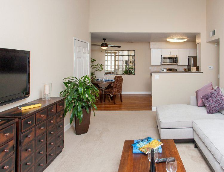 Ample living room at The Villages