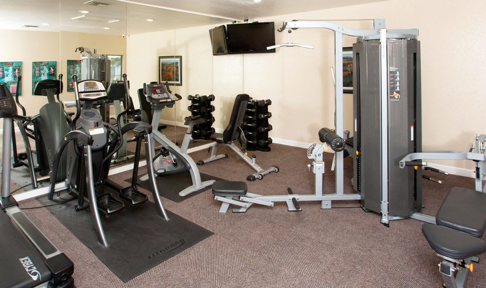 Enjoy our fitness center at Vintage Ridge Apartment Homes