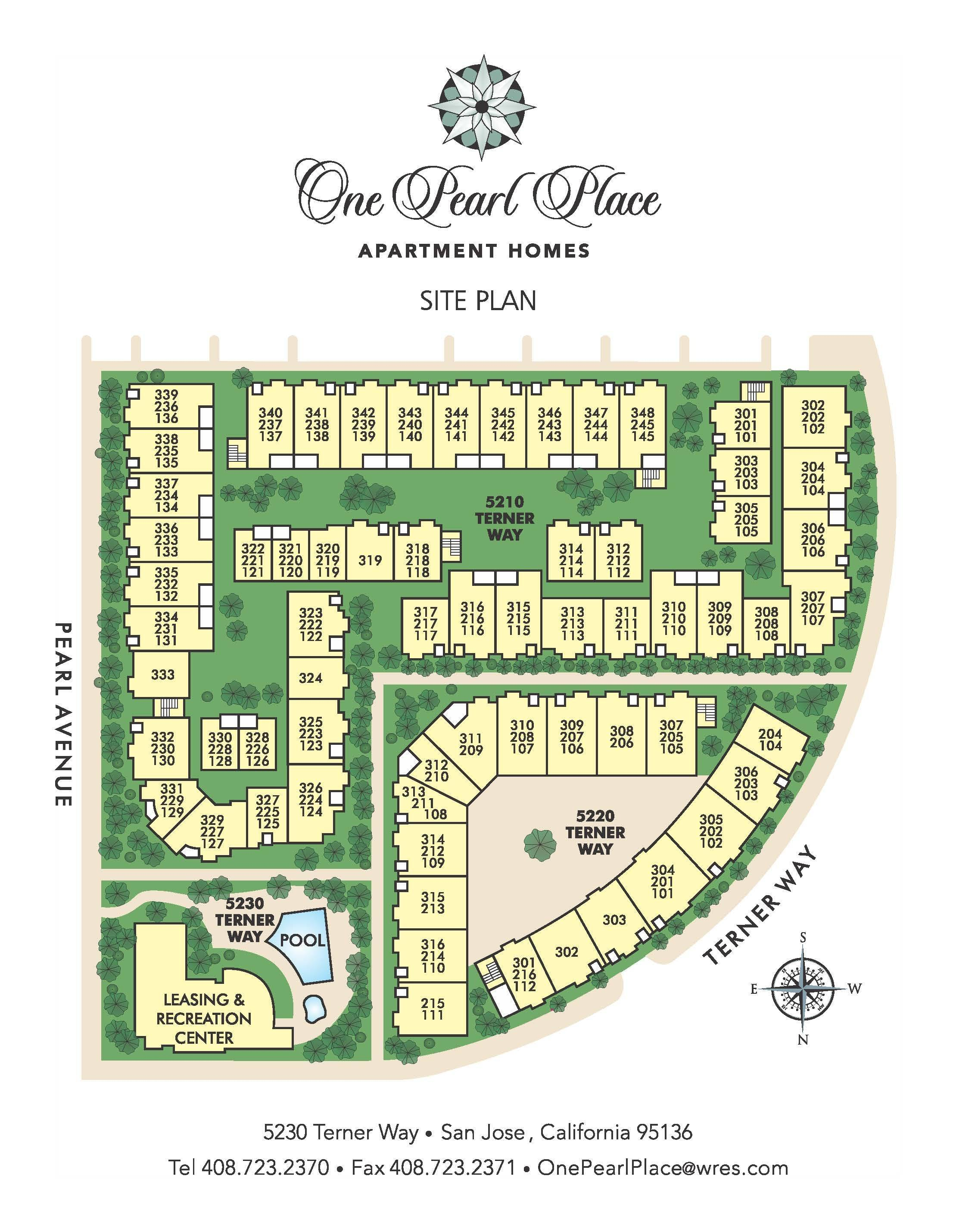 One Pearl Place sitemap