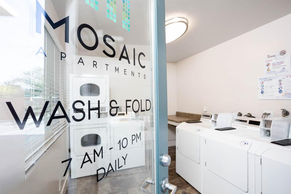 Mosaic Apartments Wash & Fold laundry