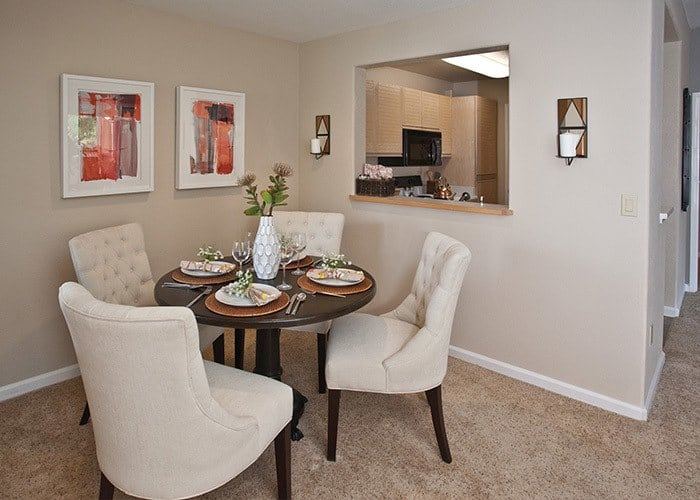 Well-appointed apartment interiors in Sacramento