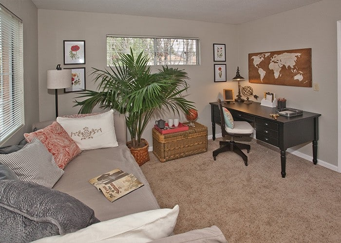 A spacious study in one of our Sacramento apartments