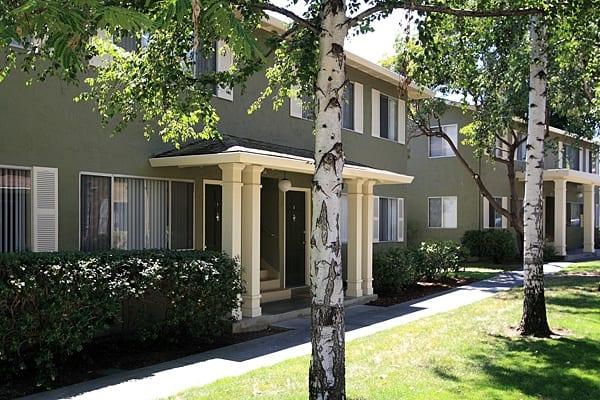Apartment exterior at Birchwood in Sunnyvale, CA