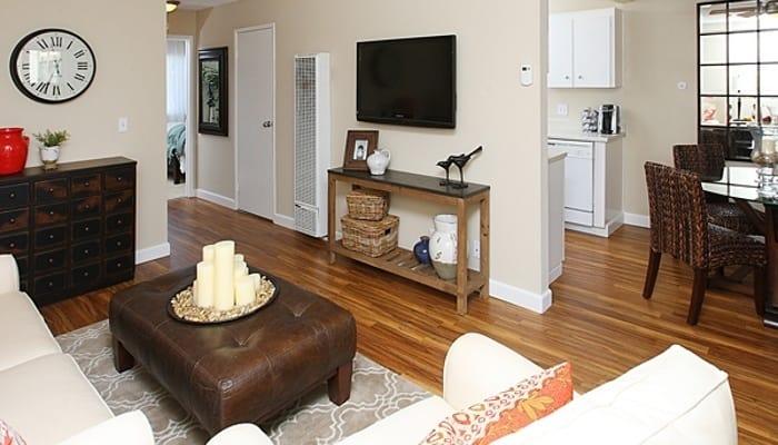 Well decorated living room at Del Prado in Pleasanton