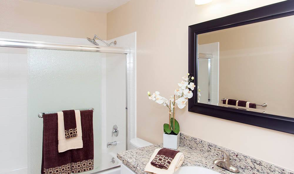 Bathroom At Tamarack Apartments