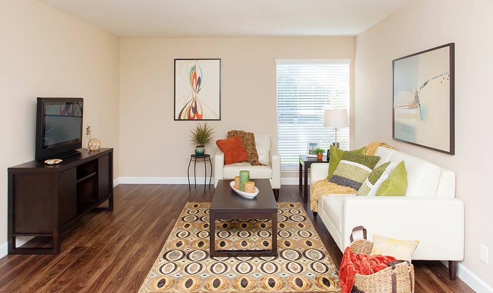 Beautiful Living Room At Tamarack Apartments