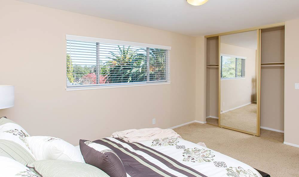 Bedroom Window At Tamarack Apartments In Santa Clara