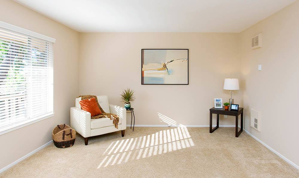 Open Bright Living Room At Tamarack Apartments