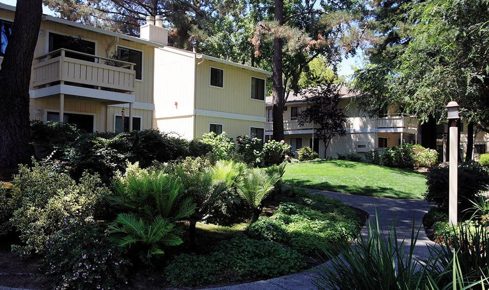 Pathway Garden At Central Park Apartments In Sunnyvale