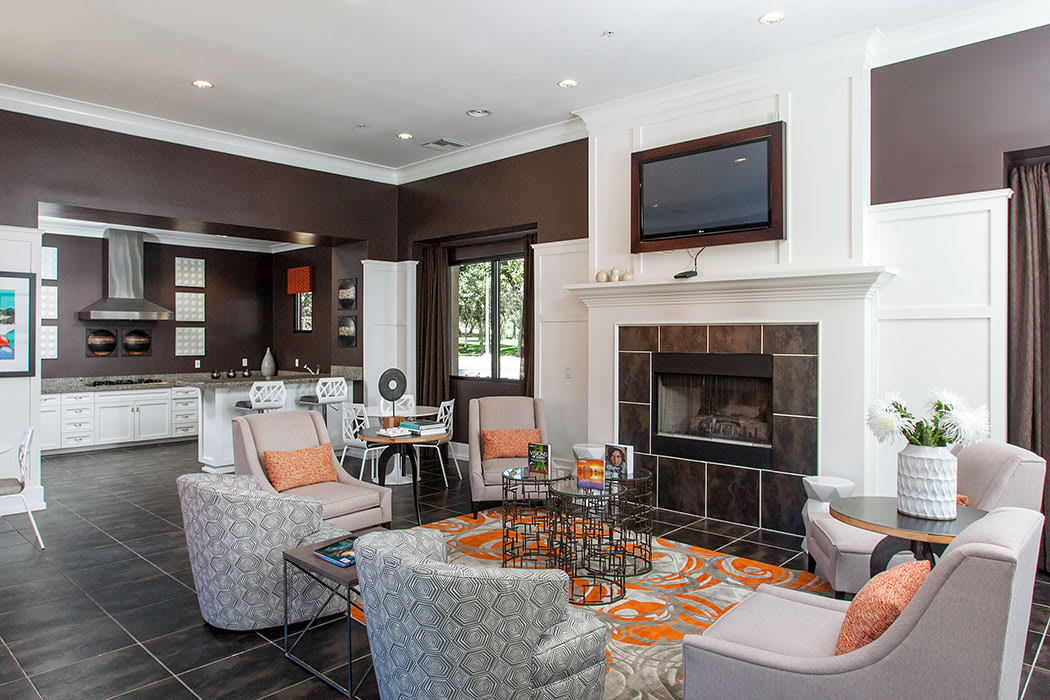 The Waterford Place Apartments clubhouse is a terrific place to entertain large groups