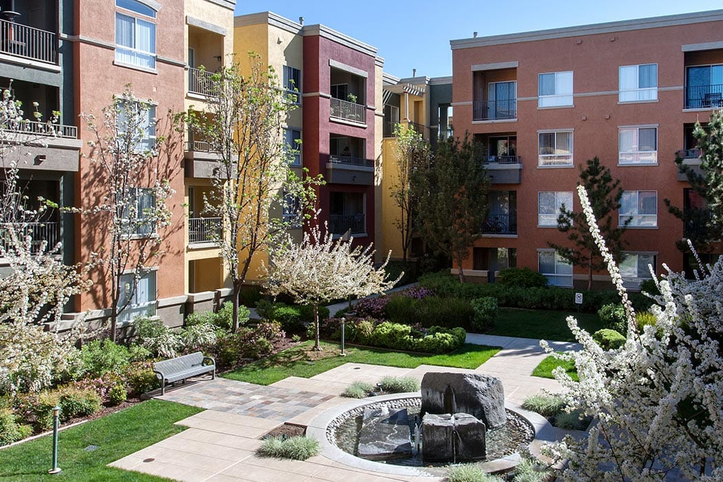 Waterford Place Apartments has wonderful landscaping and water features