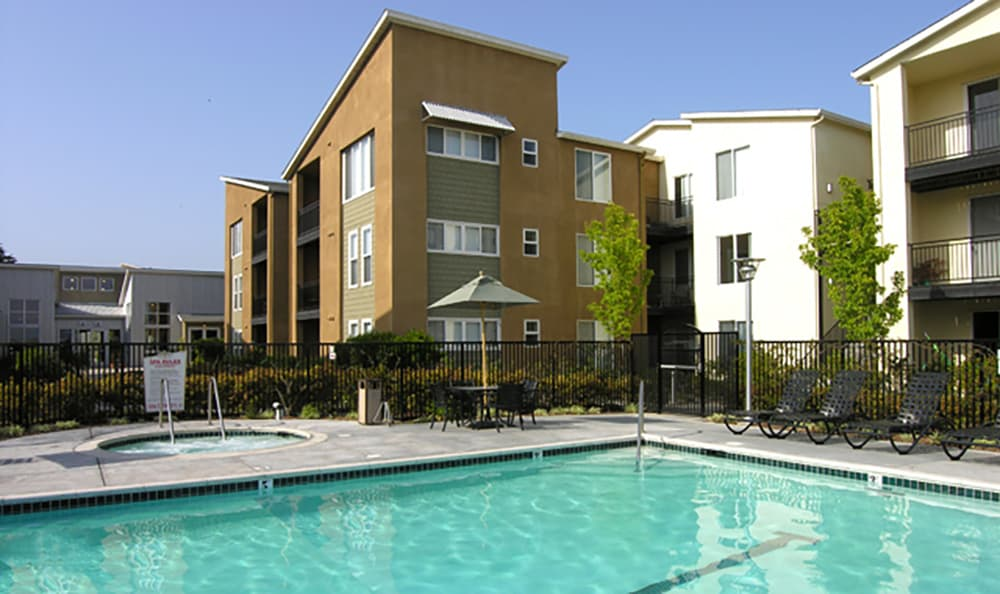 The pool area is a great place to meet your friends and new neighbors at Pacific Shores