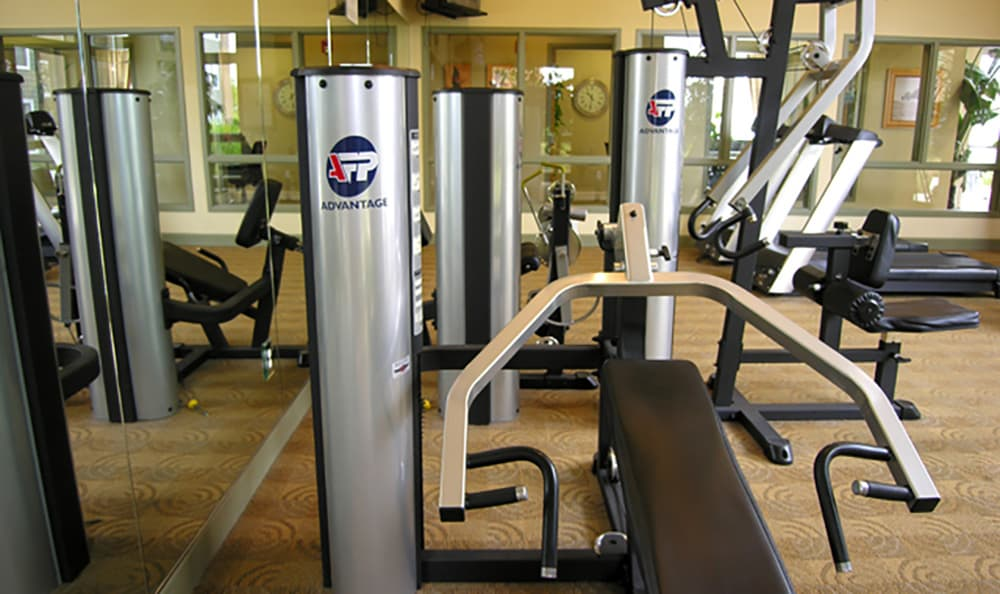 There's plenty of equipment to help you get fit at Pacific Shores