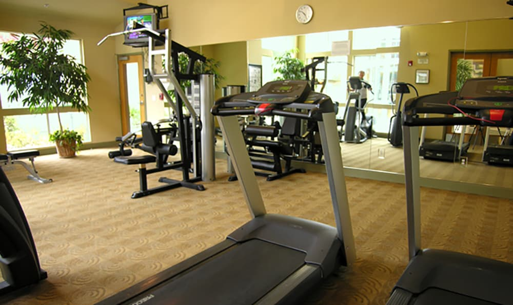 Looking to get fit? We have a well-equipped on-site fitness center at Pacific Shores!