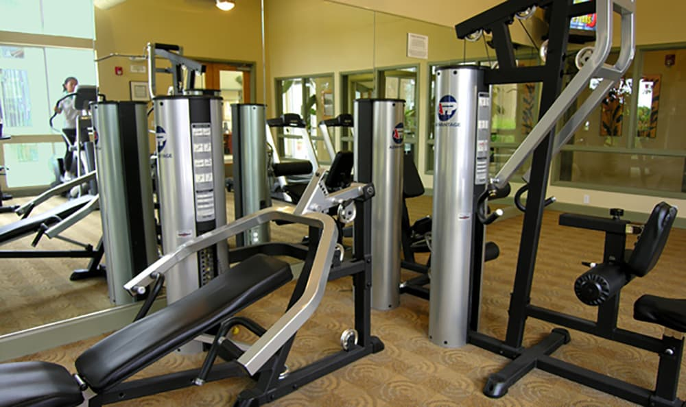 Keep your New Year's resolutions at Pacific Shores with our on-site fitness center!