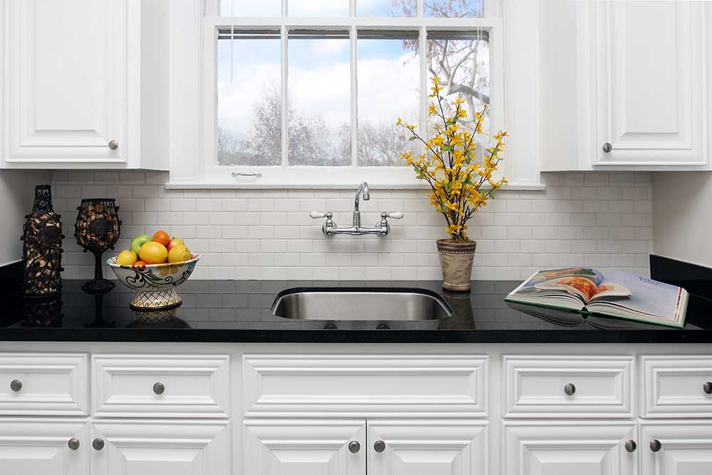 The Arlington kitchen with black countertops