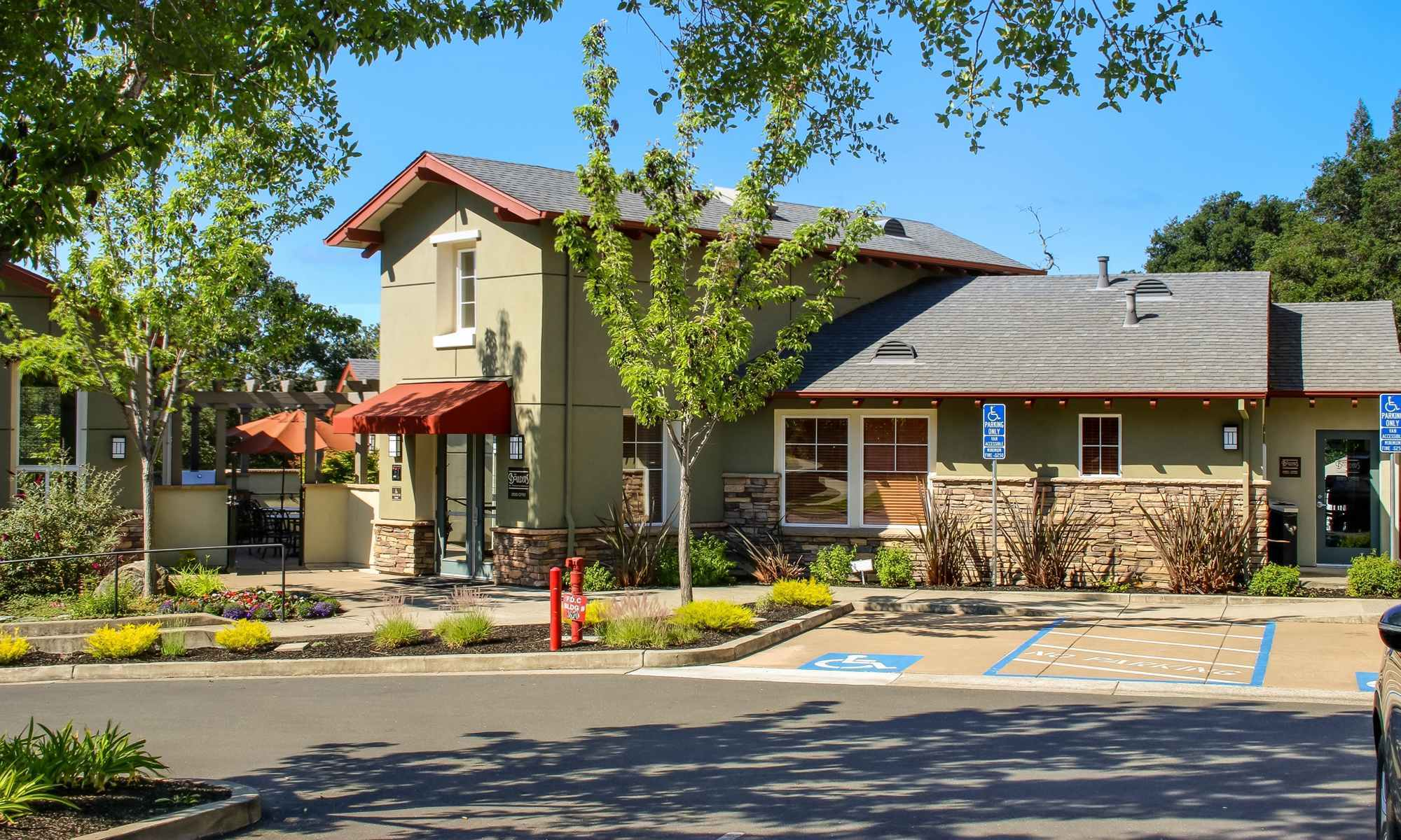 Clean Exterior Building at the Apartments for rent in Santa Rosa