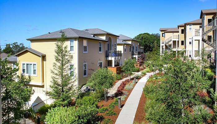 Wonderful neighborhood at the apartments for rent in Santa Rosa