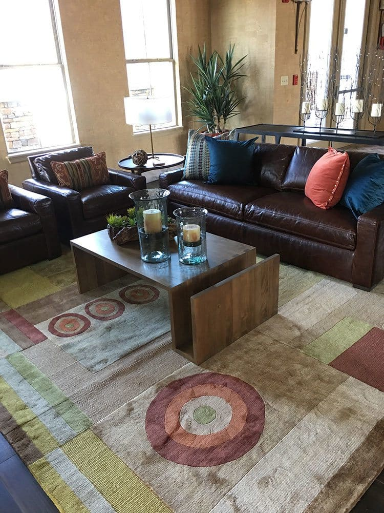 Beautiful living room at apartments in Ocoee, Florida