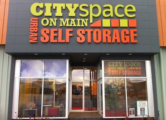 Front Of CitySpace on Main Self Storage Front Office Entrance in Louisville, KY