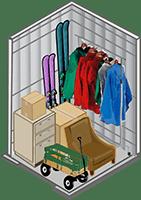 5x5 storage unit at Q-2 Self Storage