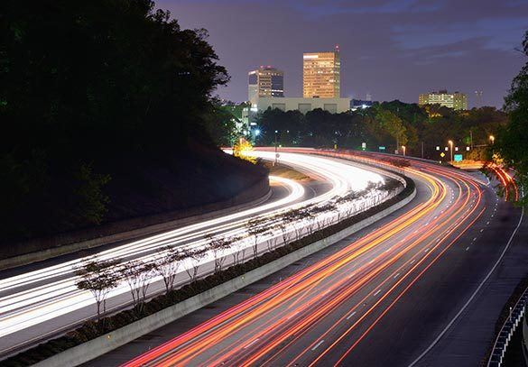 Highway near our Rock Hill apartments