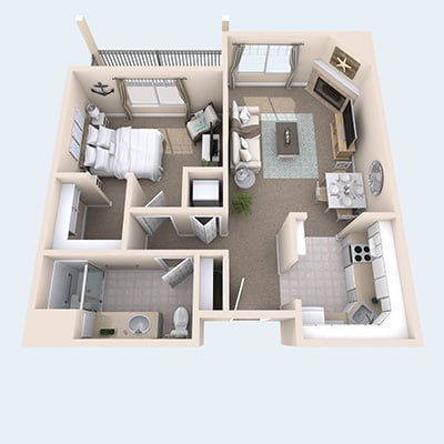 Check out our floor plans at Creekside Inn Memory Care Community